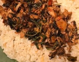 Nasi bakar tuna (pake nasi liwet)