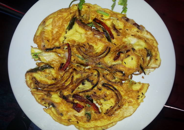 15 Minute Simple Way to Make Love Spicy Omlette with Rappini
