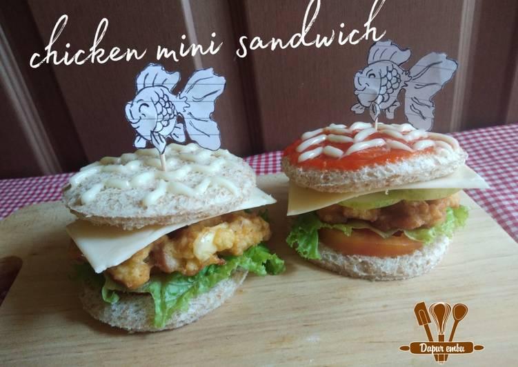 Resep Chicken mini sandwich Bikin Ngiler