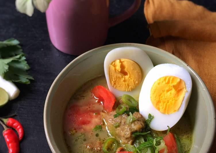 Soto Daging Bumbu Rempah khas Melayu