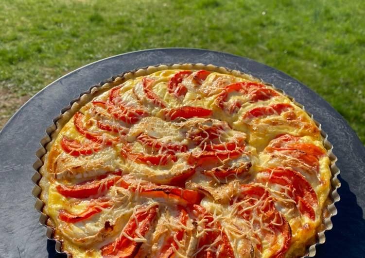 Tarte tomate/chèvre 🍅