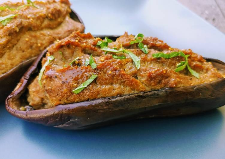 Façon la plus simple Cuisiner Parfait Aubergines farcies à l'orientale