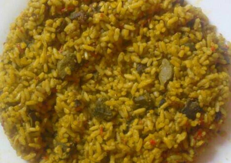 Okpehe rice and liver