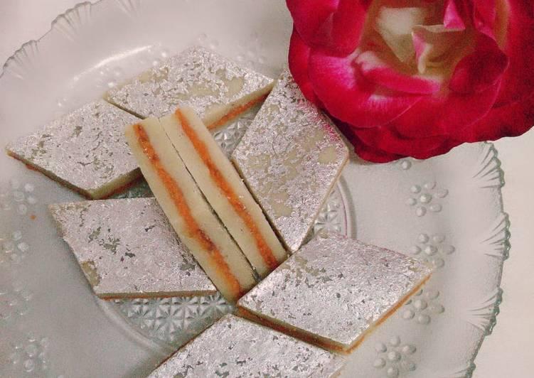 Recipe: Perfect Sandwich Gulukand kaju katli