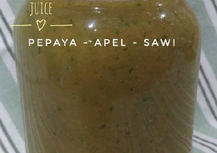 Jus PAS : Pepaya Apel Sawi