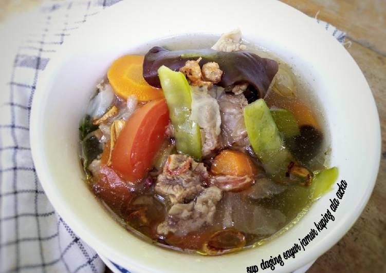 Sup Daging Sayur Jamur kuping