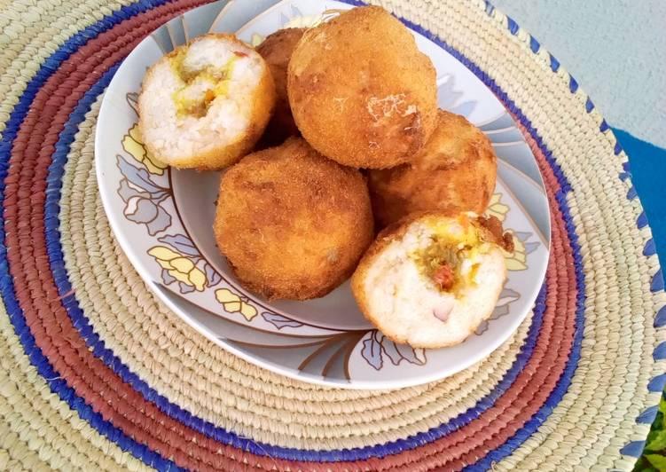 The Best Dinner Ideas Speedy Stuffed Golden Yam Ball's