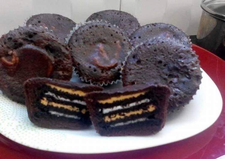 Nutella brownies with creamy peanut butter & double stuffed oreo#SyedMunawwar