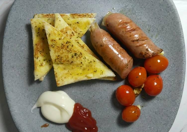Resep Garlic Bread & Grilled Sausage Paling Enak