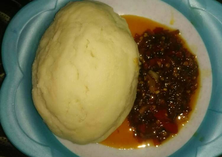 How to Prepare Delicious Pounded yam n stew