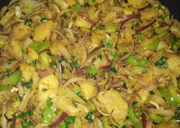 30 Minute How to Prepare Vegan Alu shimla sbzi