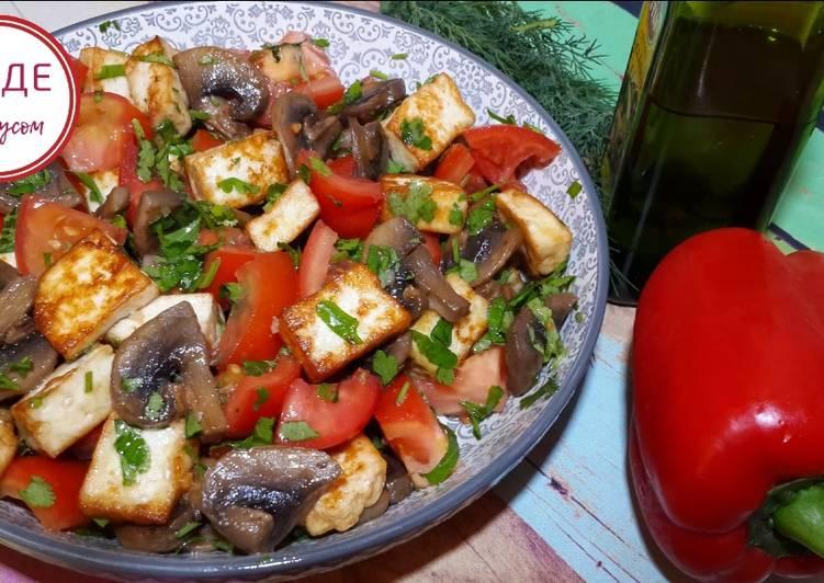 Салат из жареной свинины: простой рецепт | SM.News | 532x751