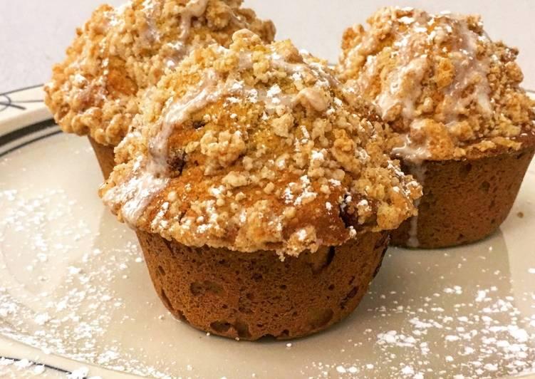 Pumpkin Chocolate Streusel Muffins