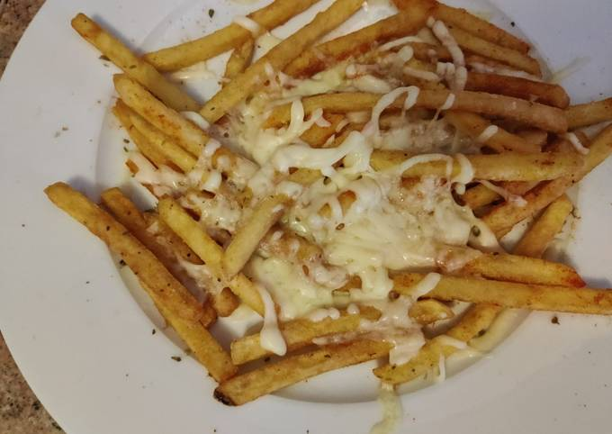 3 spice cheesy garlic french fries