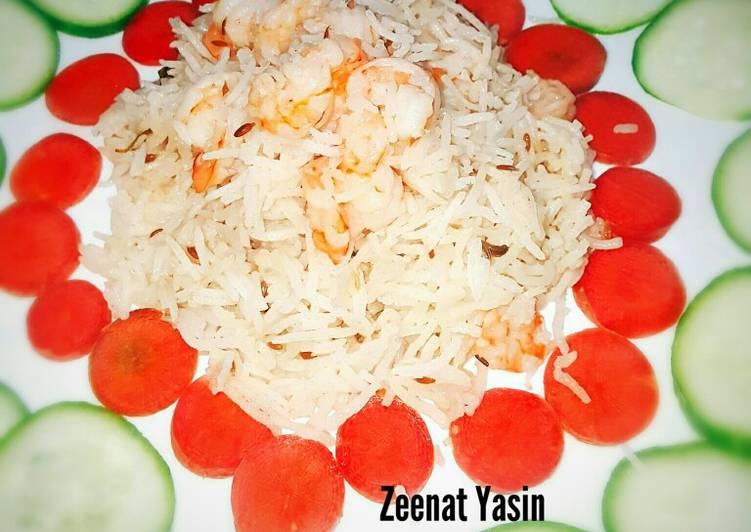 Easy Memons Special Prawn Pulao #CookpadApp