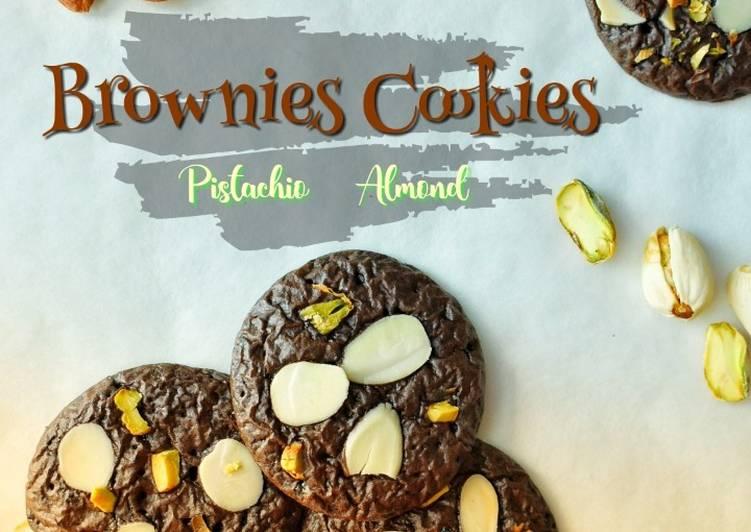 BROWNIES COOKIES Pistachio & Almond#maratonraya#kudapan#minggu4