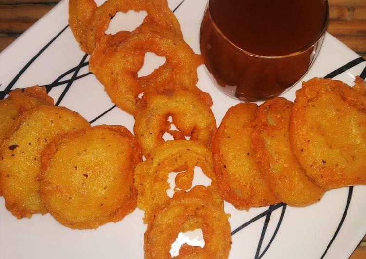 Potato and onion rings