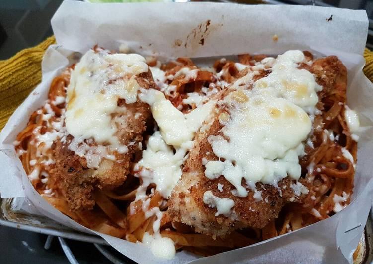 Breaded Parmesan Chicken W Mozzarella Pan Pasta Toaster