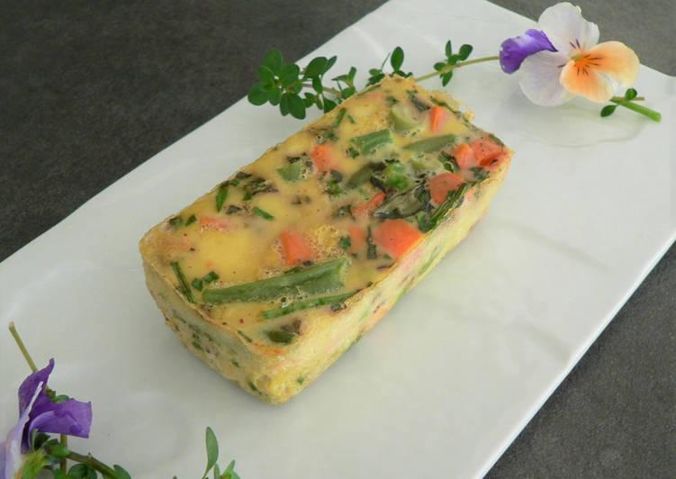 Petites terrines aux légumes et herbes aromatiques