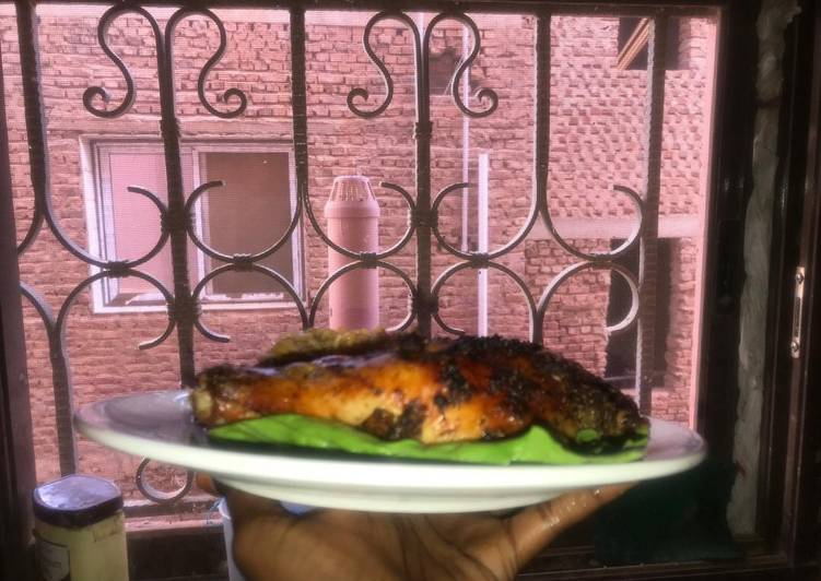 5 Minute Recipe of Diet Perfect Jollof rice with grilled chicken