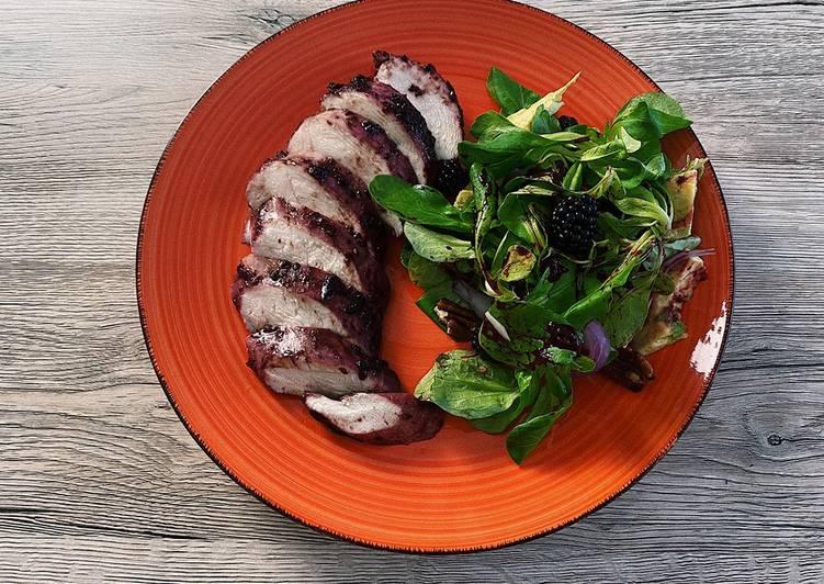 Recipe of Super Quick Homemade Blackberry-balsamic roasted chicken breast 💜