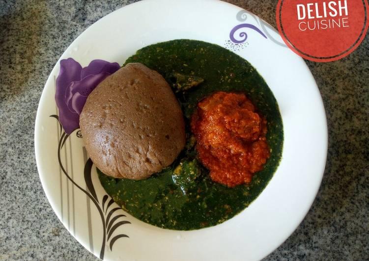 Easiest Way to Prepare Recipe of Amala and ewedu soup!