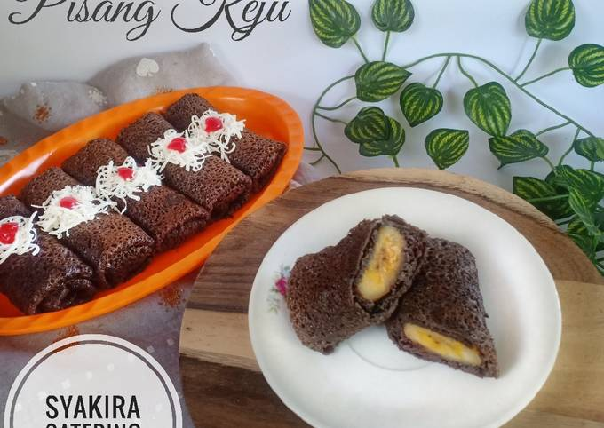 Cara Mudah Membuat Dadar gulung coklat pisang keju yang…