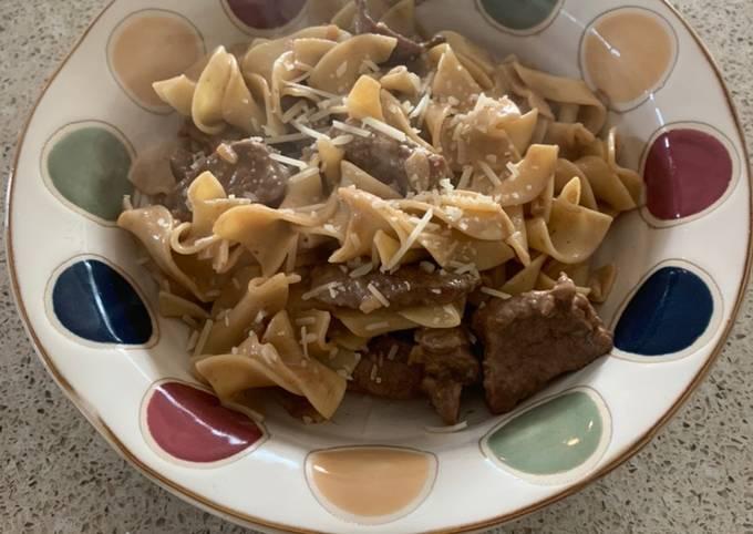 Onion Beef Noodle (Not Stroganoff)
