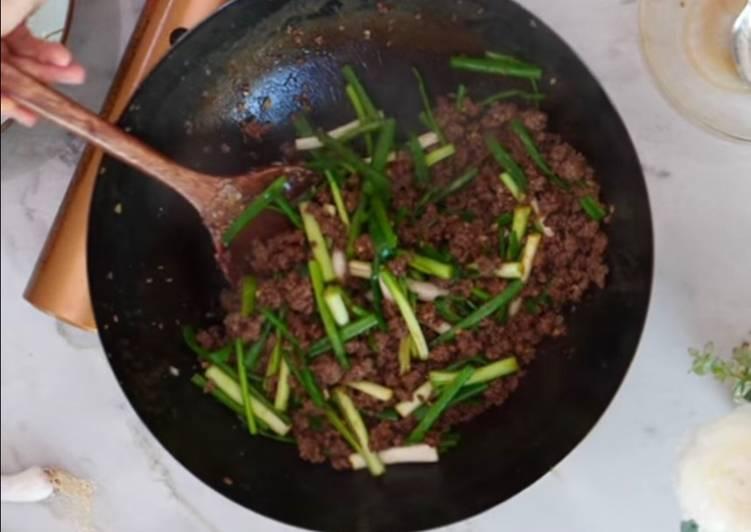 Mongolian Minced Beef