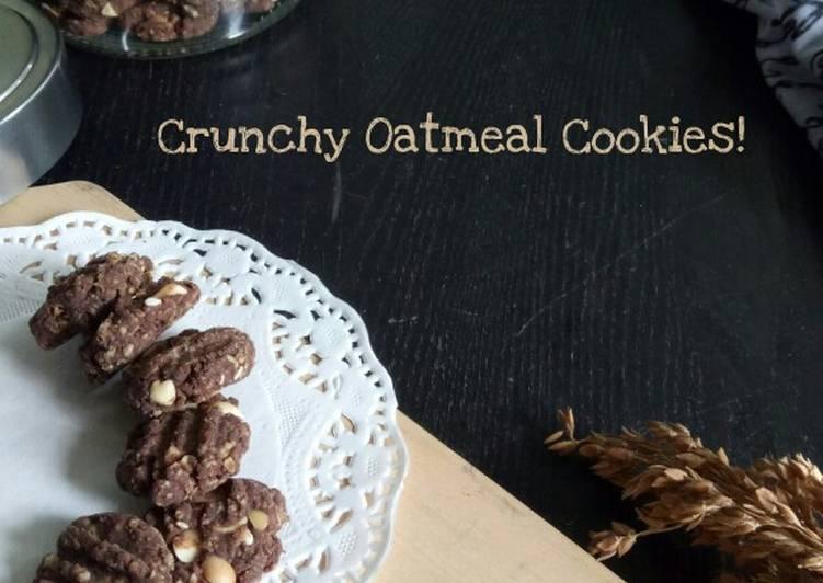 Crunchy Choco Oatmeal Cookies