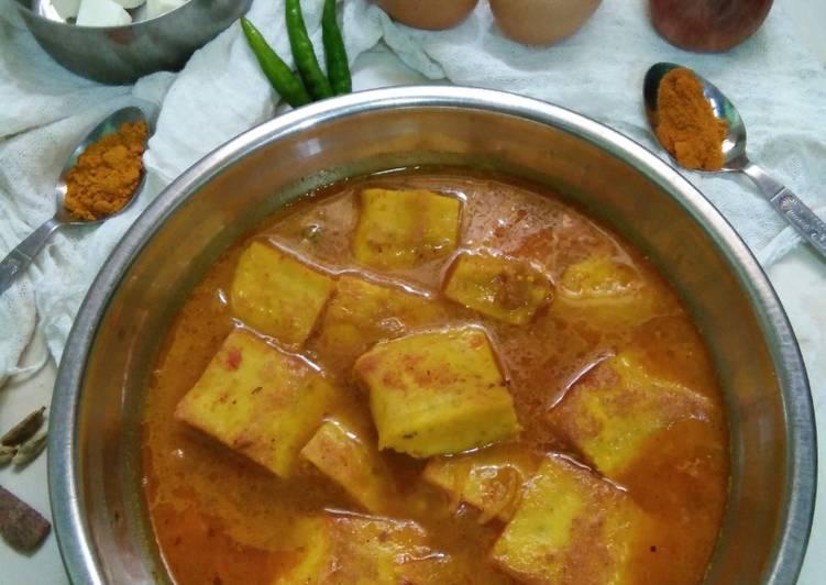 Recipe of Super Quick Homemade Egg Paneer Dhokla Curry