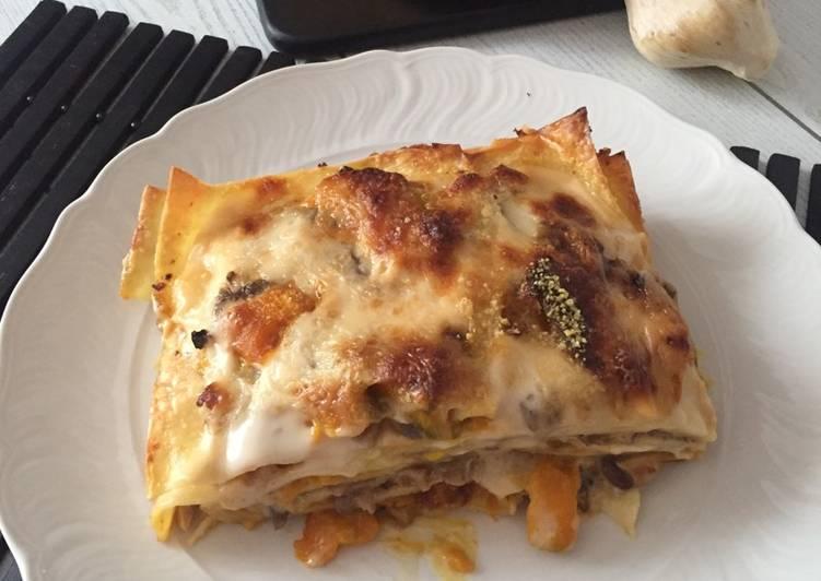 Recipe: Perfect Lasagna with pumpkin and mushrooms #ciaksicucina #cookpad
