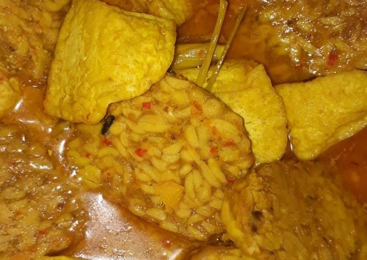 Recipe Perfect Tahu Tempe Masak Santan Pedas