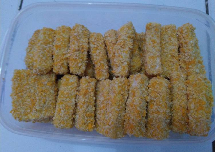 Bagaimana Membuat Naget ikan tenggiri+sayur yang Bikin Ngiler