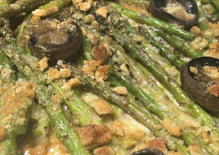 How to Prepare Delicious Roasted Asparagus with Mushrooms