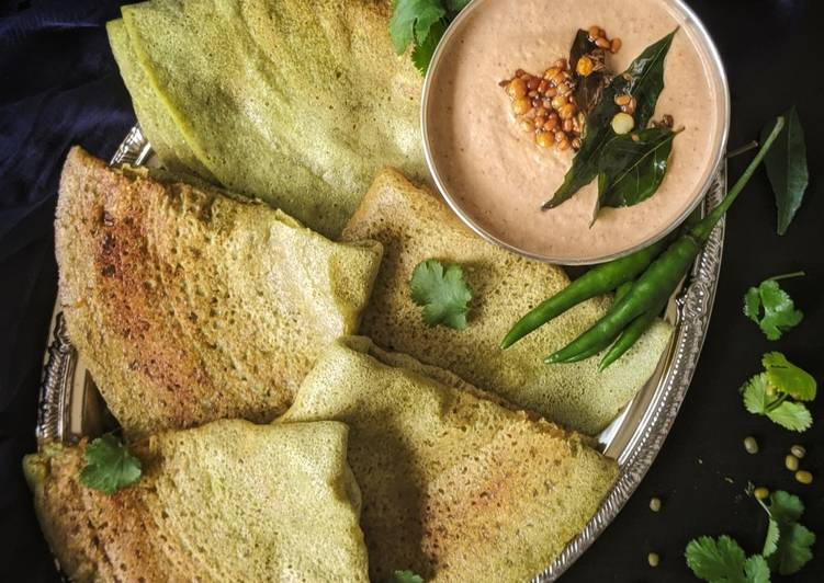 Easiest Way to Prepare Recipe of Pesarattu | Green Moong Dal Dosa