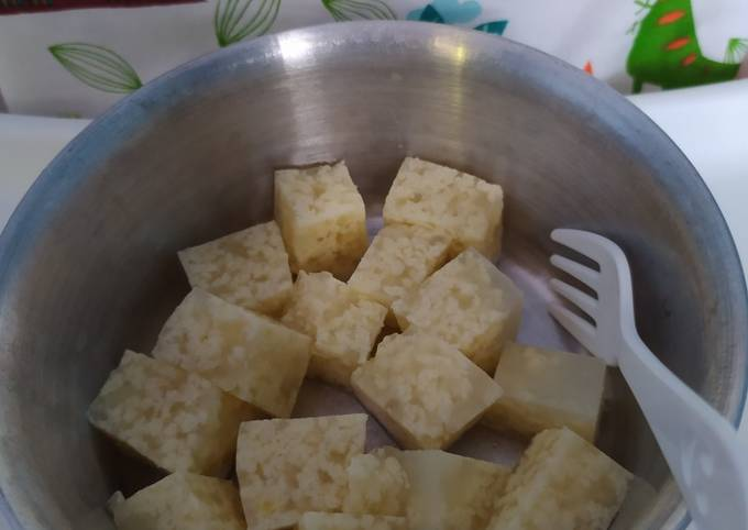 Puding Roti Tawar 9m (Snack MPASI Tinggi Kalori)