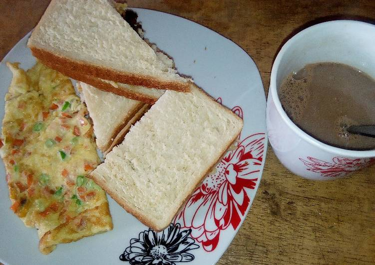 15 Minute Steps to Make Favorite Fried Eggs,bread and Choco