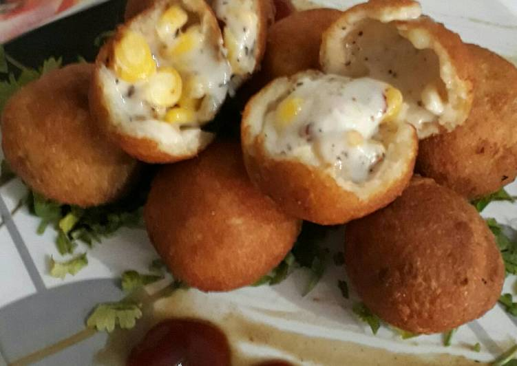 Recipe of Favorite Cheesy sweetcorn balls