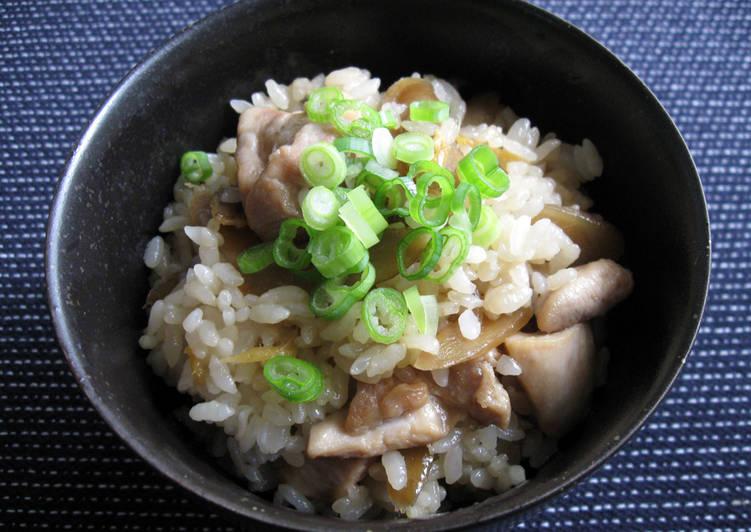 Chicken & Gobō Mazegohan