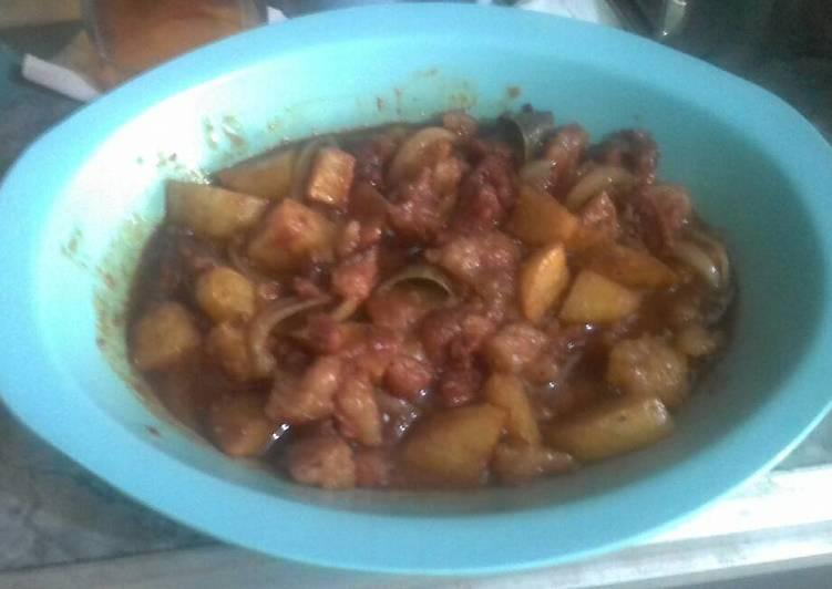 Semur kentang sandung lamur