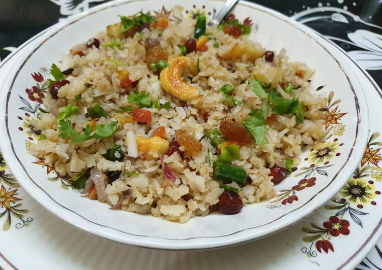 Recipe of Any-night-of-the-week Flattened Rice Nutty Pulao