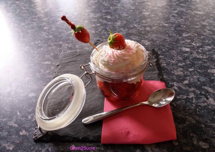Comment Préparer Les Tartare de fraises à la mousse de mascarpone