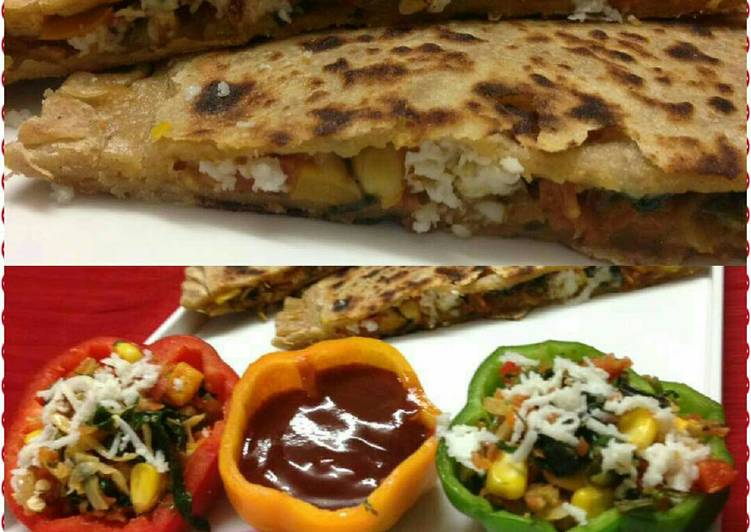 Steps to Prepare Super Quick Homemade Pizza Paratha