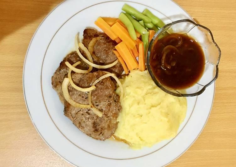 Beef steak with Teriyaki sauce