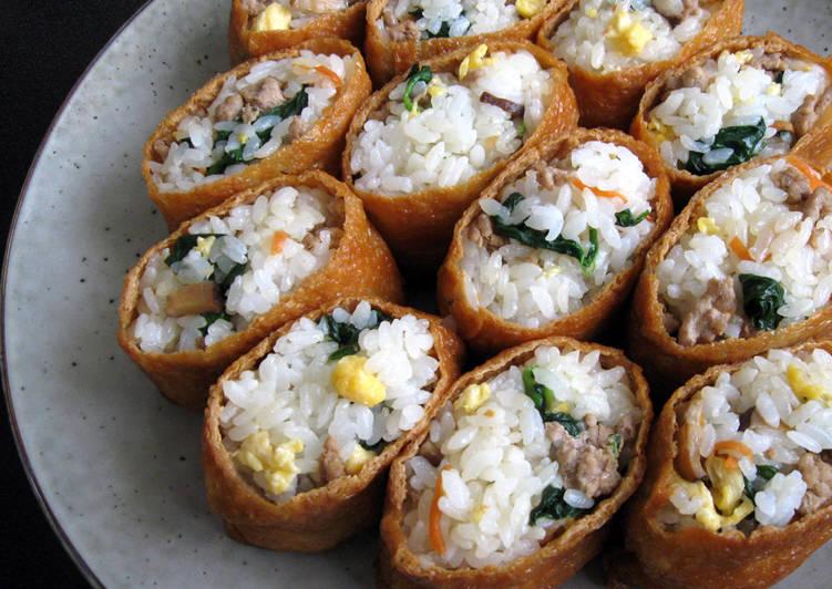 20 Minute Dinner Ideas Blends Soboro Mixed Inari-zushi