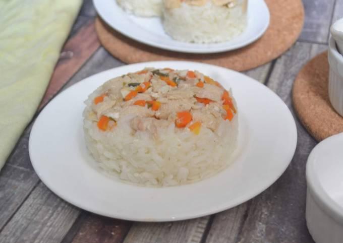 Nasi Tim Ayam Wortel