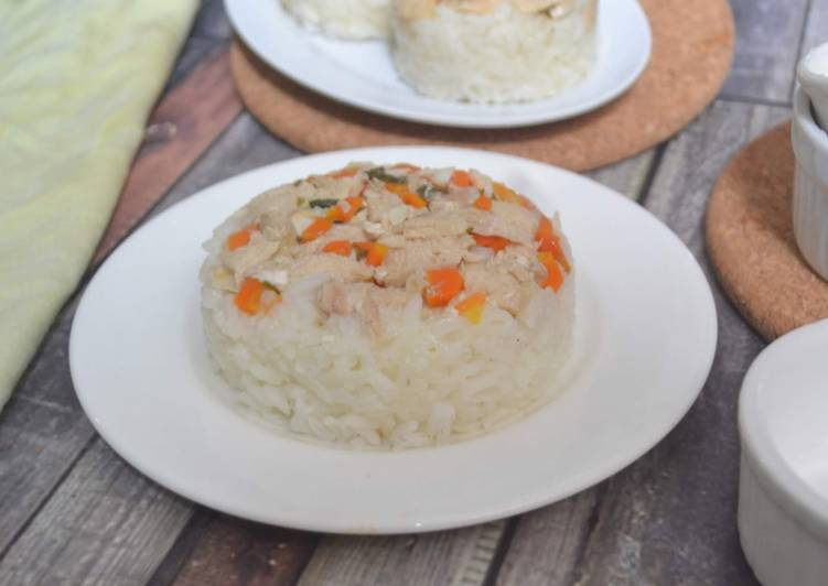 Cara Gampang Menyiapkan Nasi Tim Ayam Wortel, Bikin Ngiler