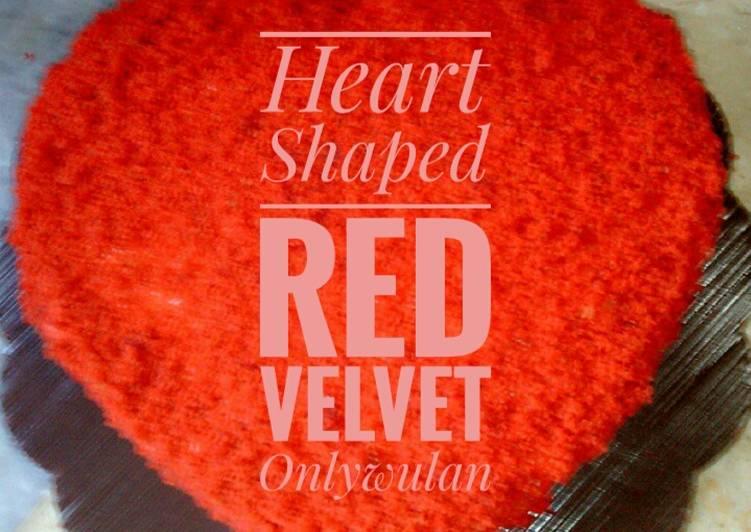 Resep Heart Shaped Red Velvet, Lezat Sekali