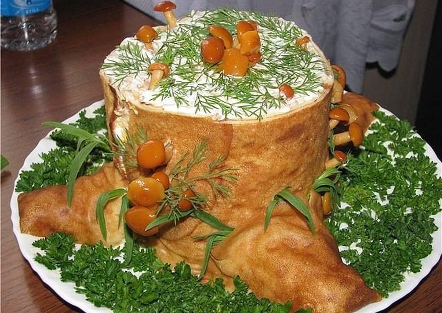 салат пенек рецепт с фото пошаговый подаренные